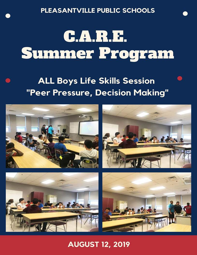 CARE Summer Program All Boys Life Skills Session Peer Pressure Decision Making