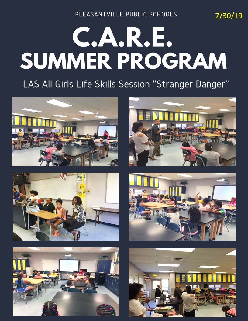 C.A.R.E Summer Program LAS All Girls Session Stranger Danger July-30-2019