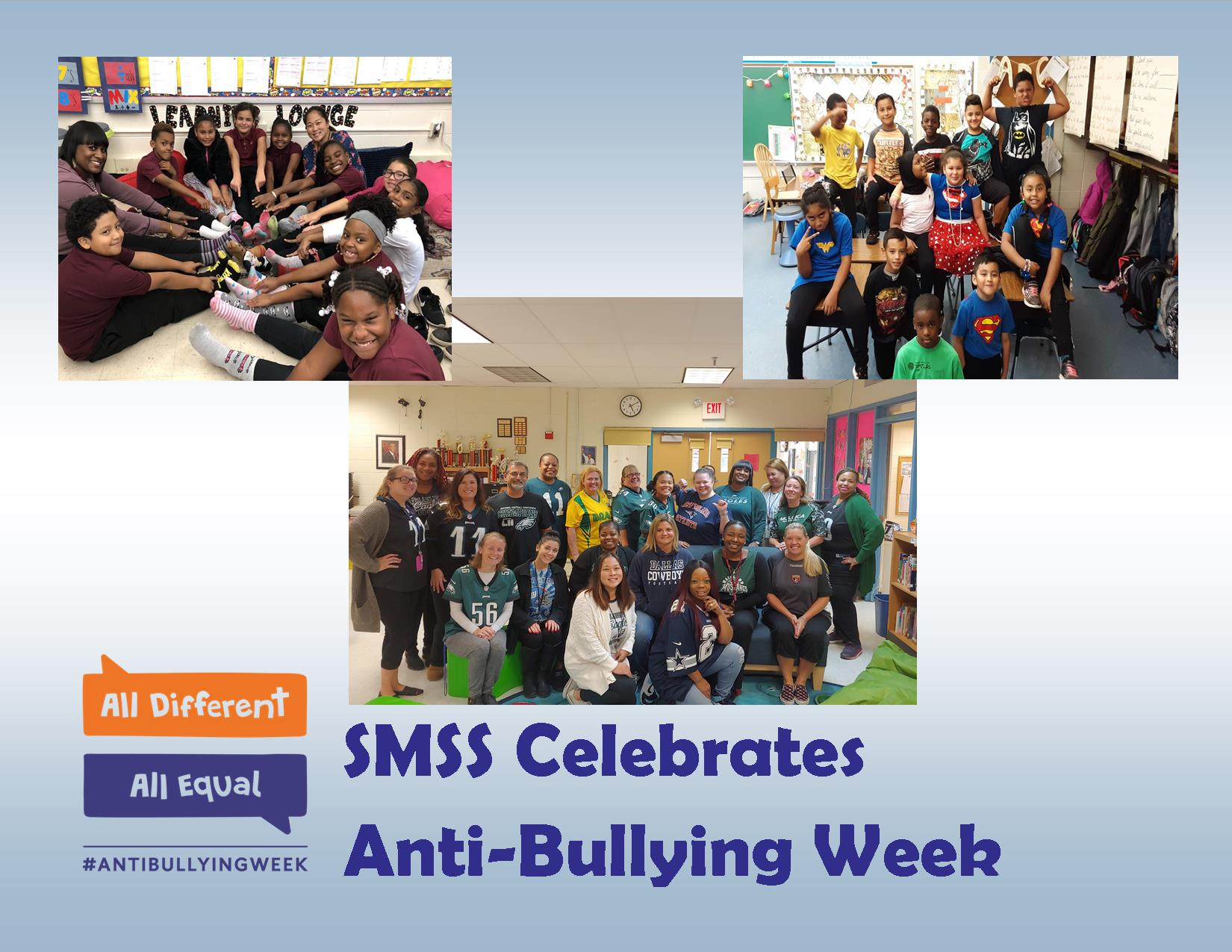All Different All Equal #ANTIBULLYINGWEEK SMSS Celebrates Anti Bullying Week